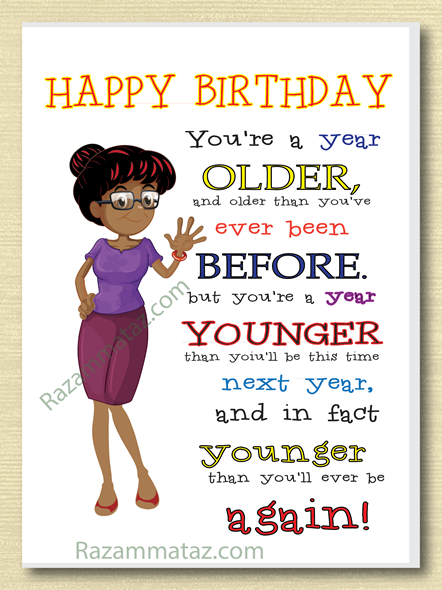 African American Female Birthday Card A Happy Friend Wishes For Her