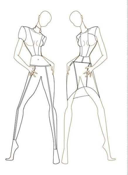 Fashion croquis female