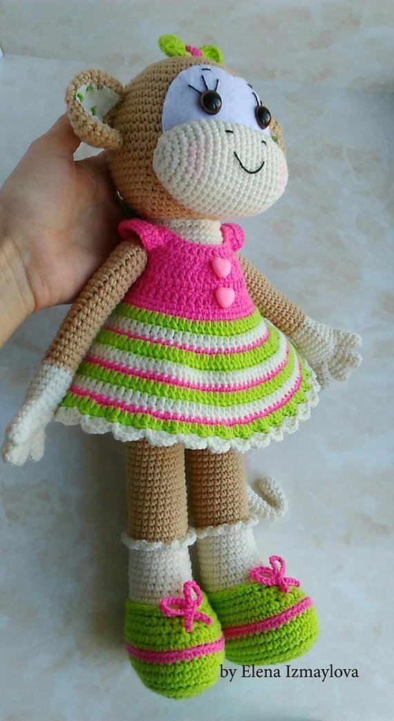 Crochet Monkey Pattern Crochet Toys Pattern Amigurumi Monkey
