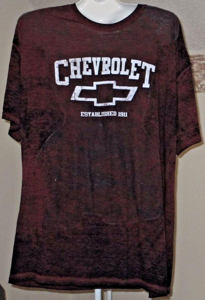 Gm Chevrolet Chevy Burnout T Shirt 2xl 50 52 Red Black Bow Tie Gm Graphictee Cool T Shirts T Shirt T Shirts