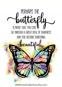 Butterfly Inspirational Printable Wall Decor, Butterfly Quote, Perhaps The Butterfly, INSTANT DOWNLOAD