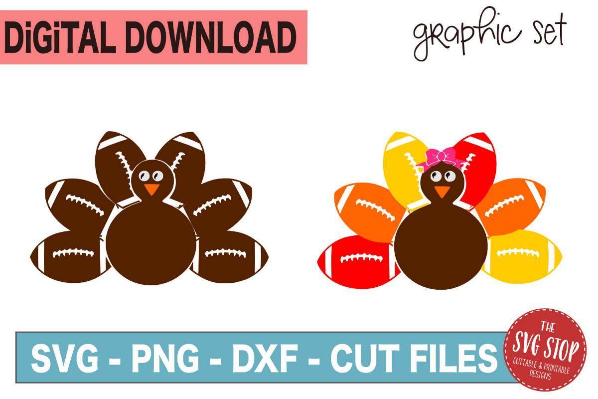 Football Turkey Monogram Frames SVG, PNG, DXF Monogram