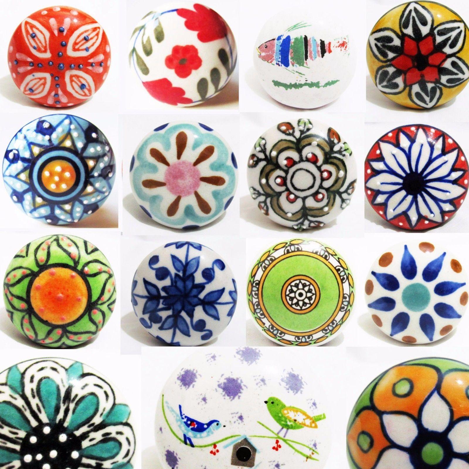 vintage shabby chic color ceramic knobs cupboard cabinet door rh pinterest com