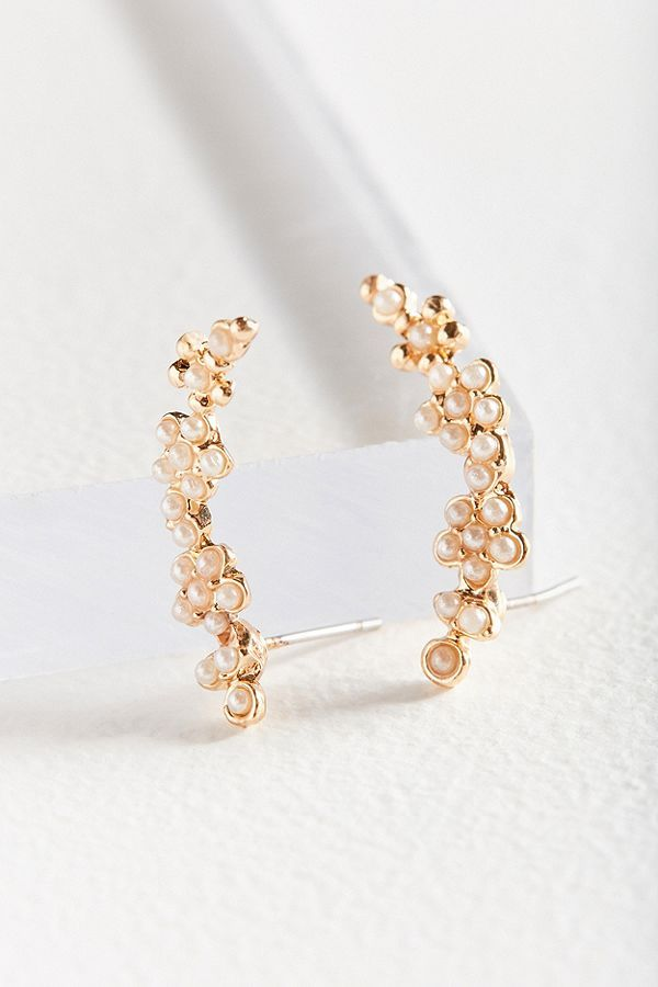 Slide View: 1: Pearl Climber Earring