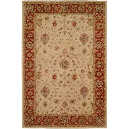 K2 Floor Style Empire Ivory Rust Hand Tufted Wool Area Rug