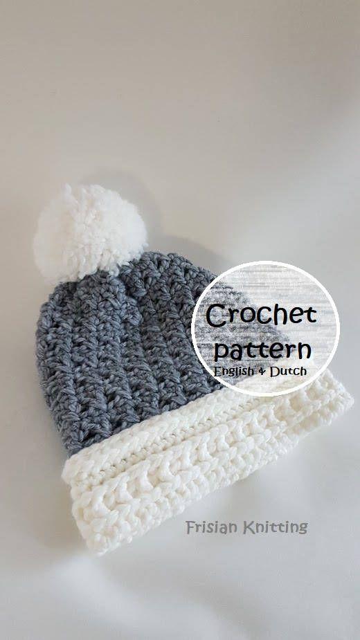 crochet pattern beanie // pattern woman hat // girls beanie ...