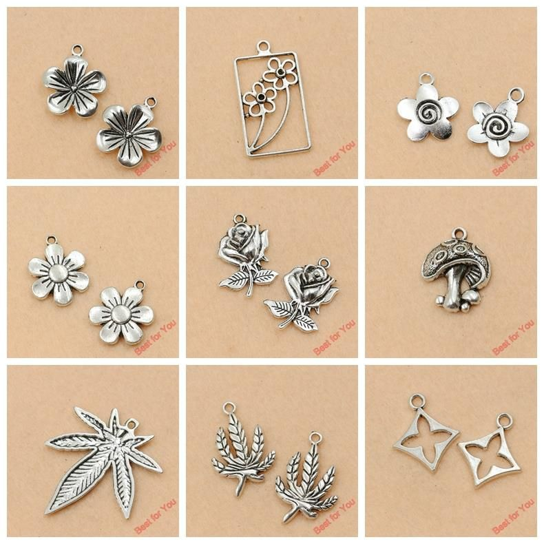 Aliexpress mixed tibetan silver plated flower leaf charms pendants aliexpress mixed tibetan silver plated flower leaf charms pendants jewelry making diy charm handmade crafts mozeypictures Gallery