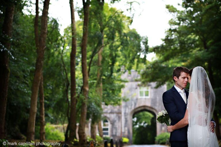 A bride & groom portrait at Markree Castle wedding photographer sligo