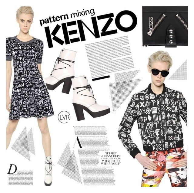 """Printed to Perfection with Kenzo"" by luisaviaroma ❤ liked on Polyvore featuring Kenzo and Anja"