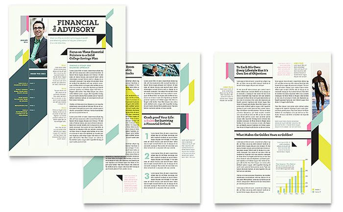 Personal Finance Newsletter Template Design Newsletter Layout Newsletter Design Templates Newsletter Template Free