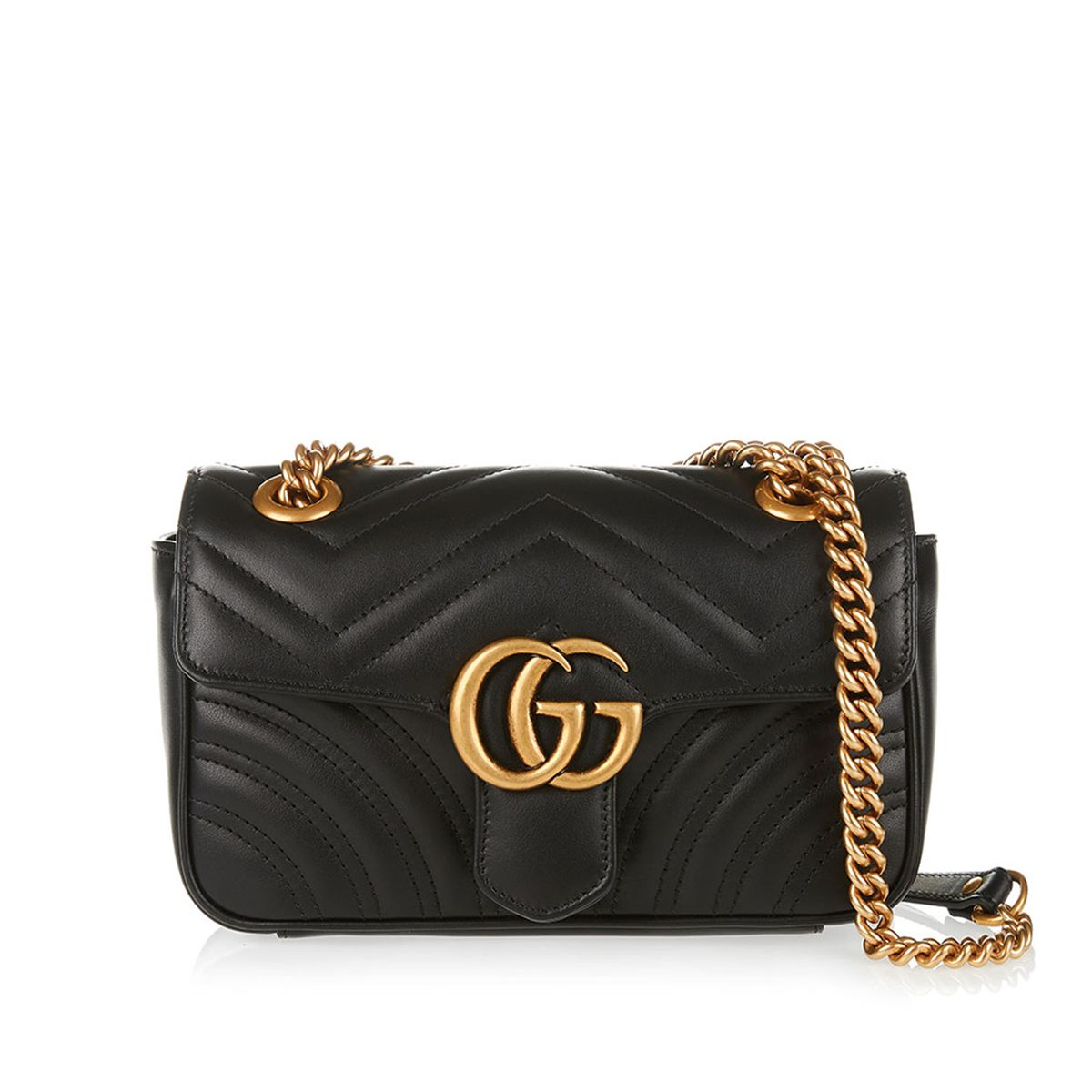 ee54dae37 Shop this GG Marmont Mini Shoulder Bag from the latest collection of Gucci  womenswear online at LUISAWORLD.COM . All the fashion trends are here!