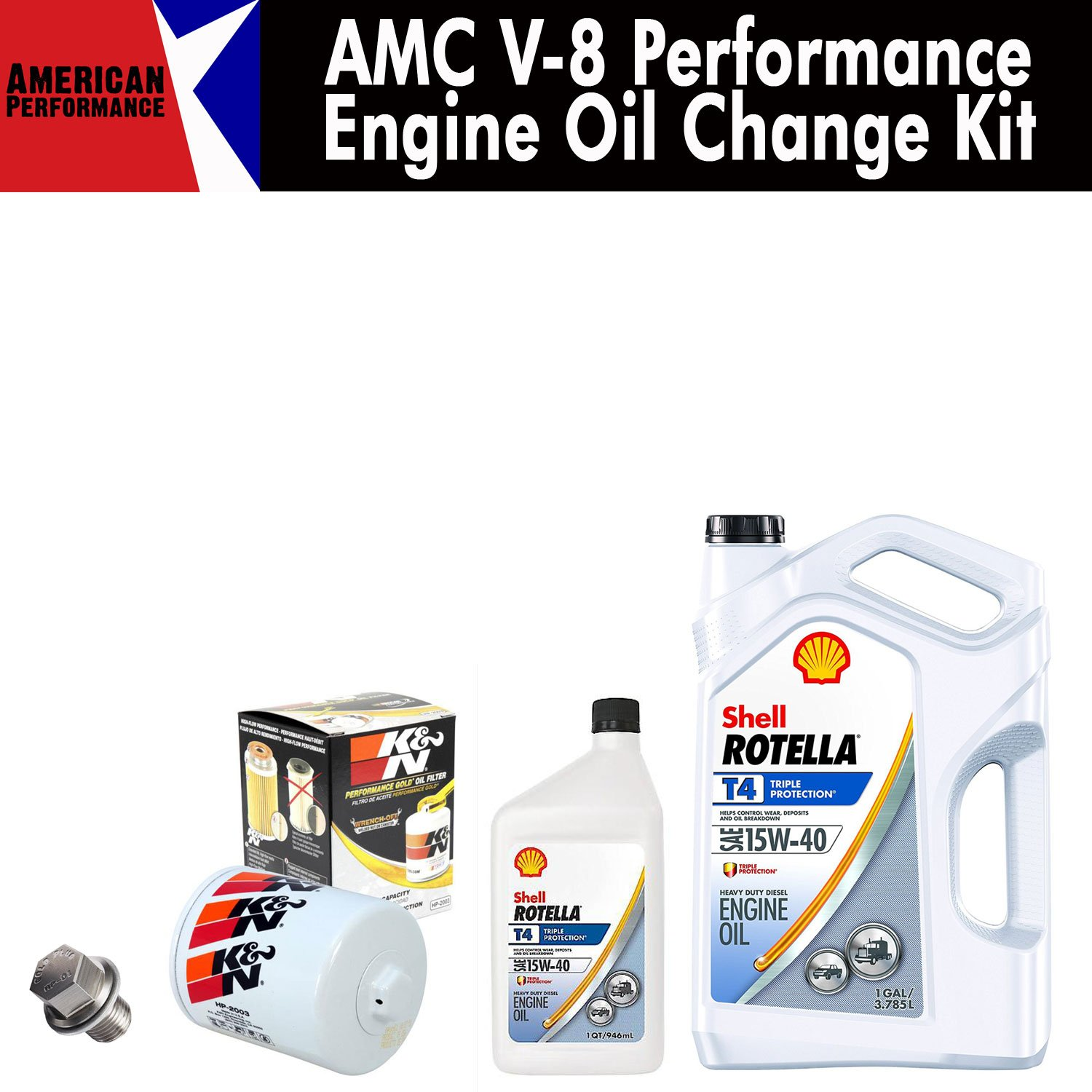 AMC V8 Performance Engine Oil Change Kit Oil change