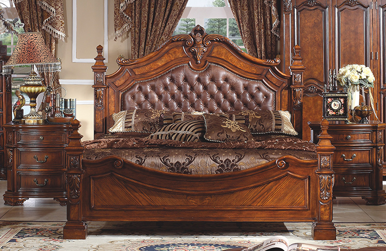 french luxury wooden frame and soft leather double bed for marriage rh pinterest com