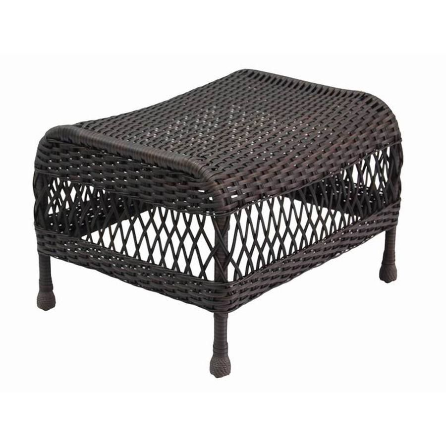 Garden Treasures Glenlee Wicker Ottoman Miscellaneous Items Lake House