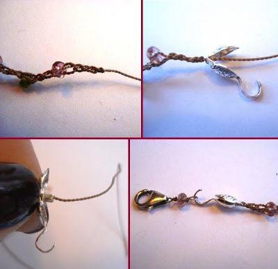 Faça um colar bem simples de crochê e gotinhas: Este passo a passo é ótimo para iniciantes tanto do crochê como de bijuterias.