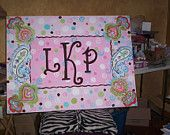 Paisley Personalized Canvas