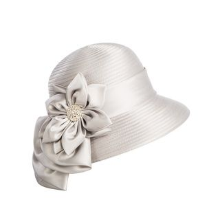 057245bd3eb Shop for Giovanna Signature Women's Flower-trimmed Ribbon Hat. Get free  delivery at Overstock.com - Your Online Accessories Outlet Store!