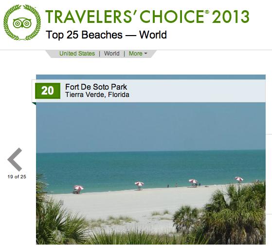 Ranked 20 Top Beach in the WORLD by TripAdvisor!