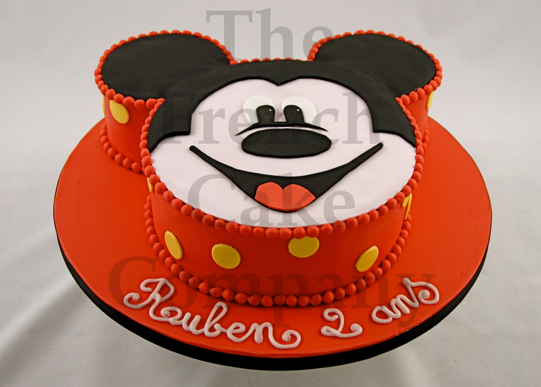 Cake for boys mickey gateau d 39 anniversaire pour enfants garcon mickey verjaardagstaart - Gateau mickey facile ...