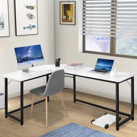 modernluxe l shaped desk corner computer desk study writing desk for rh pinterest com