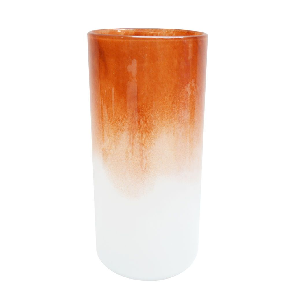 """Purchase the 10"""" Orange Ombre Glass Vase By Ashland® at Michaels.com. Display fresh flowers and ferns in this lovely glass vase by Ashland."""