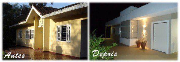 Fachadas de casas reformadas antes e depois
