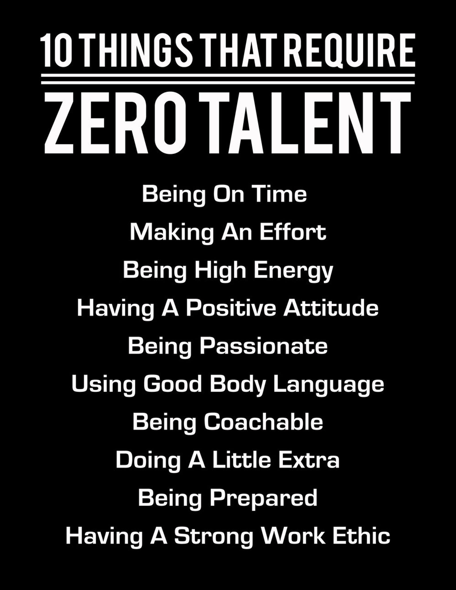 10 Things That Require Zero Talent White On Black Etsy