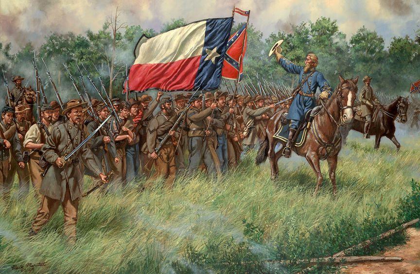 Maritato Civil War Gettysburg Texas Art Print HOOD'S TEXANS CSA Texas  Brigade #Realism | Civil war art, War art, Civil war artwork