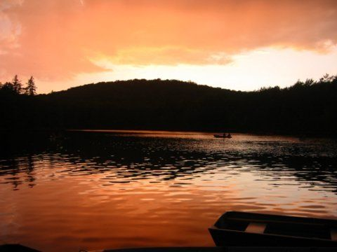 serene adirondack sunrise