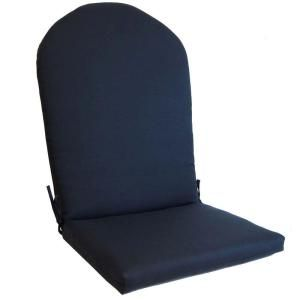 Black Adirondack Cushion Lh547 A59 At The Home Depot Small Leather Chairs Outdoor Chair Cushions Adirondack Cushions
