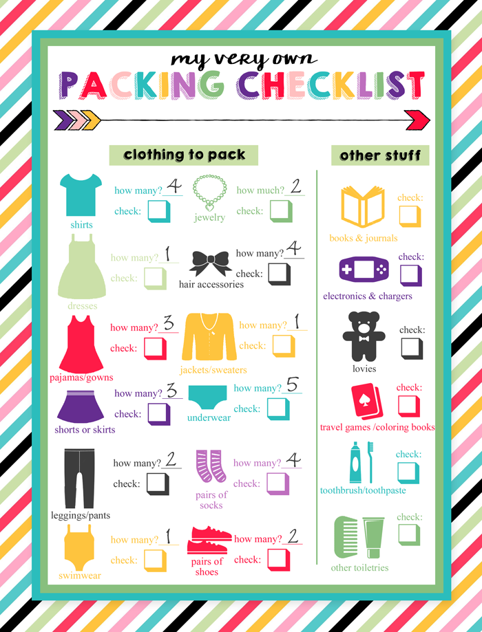 7d6b80e6567c Free Printable Children s Travel Packing Checklist