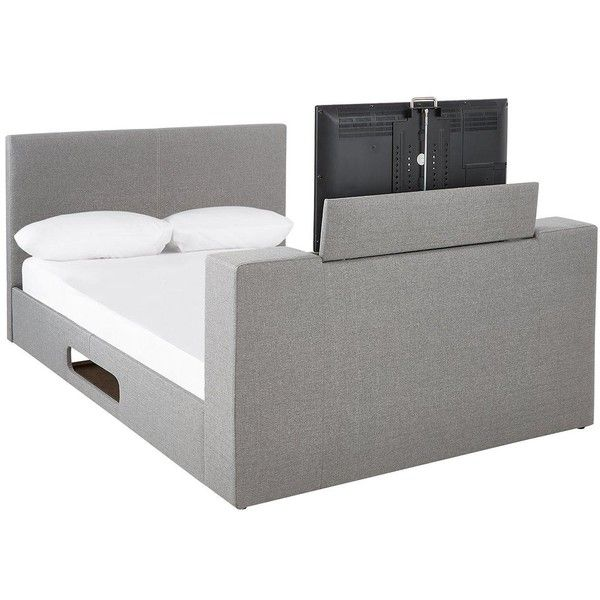 Talbot Fabric Double Tv Bed Frame With Mattress Options (Buy And ...
