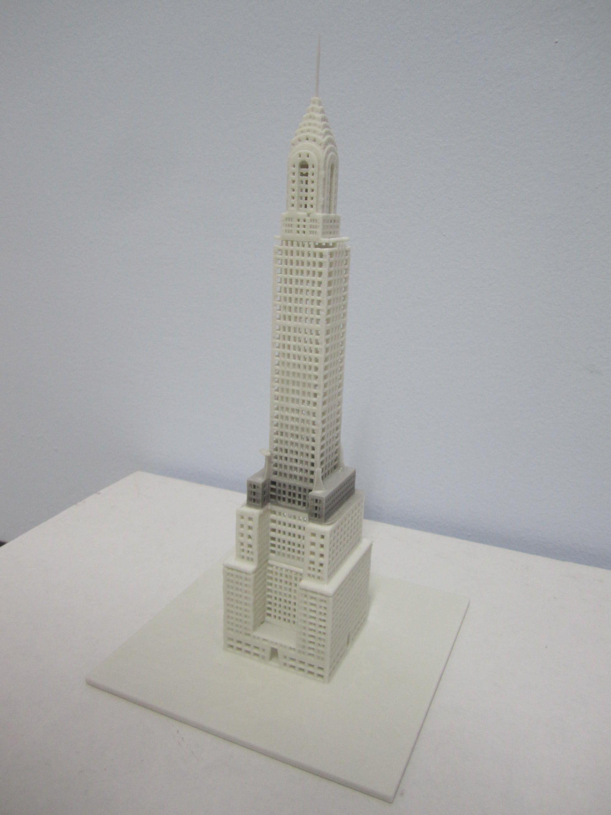 Impresi N 3d Torre Chrysler Impresiones 3d Arquitectura