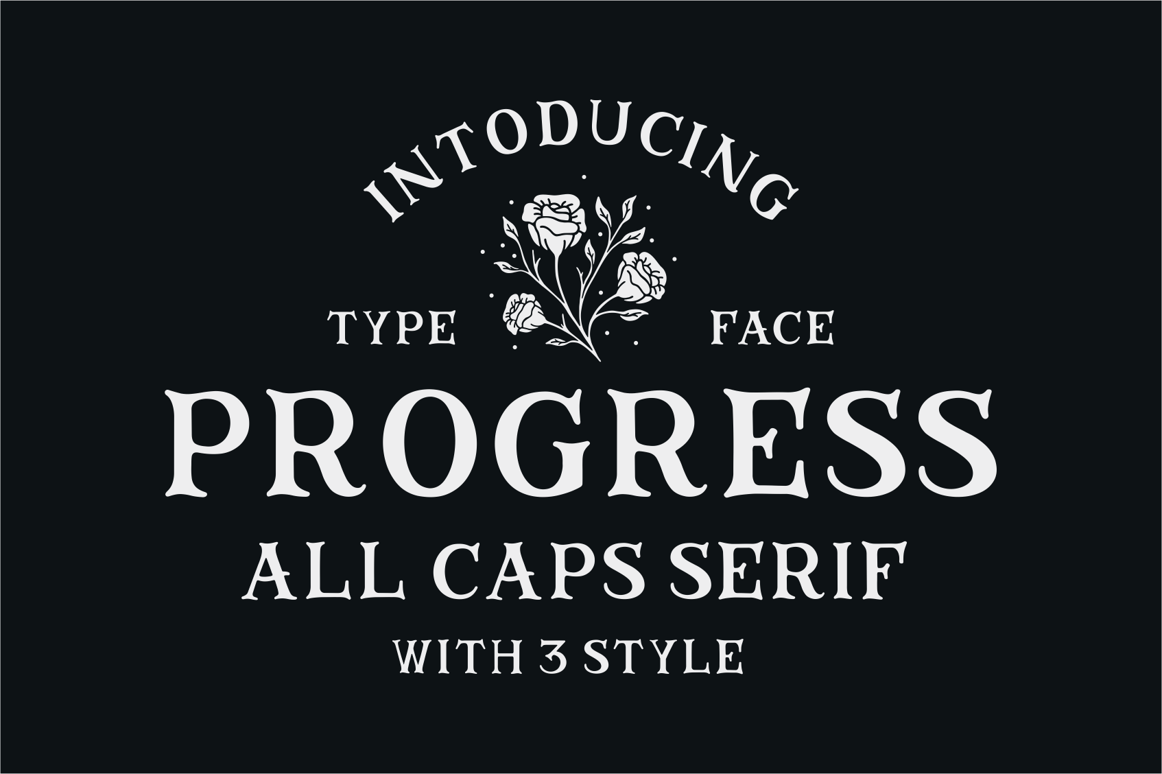 Progress is all caps typeface font serif is inspired by
