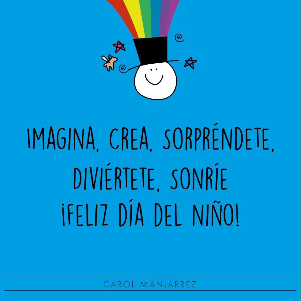Niño Imagina Dia Del Niño Sonrie Motivación Mensaje