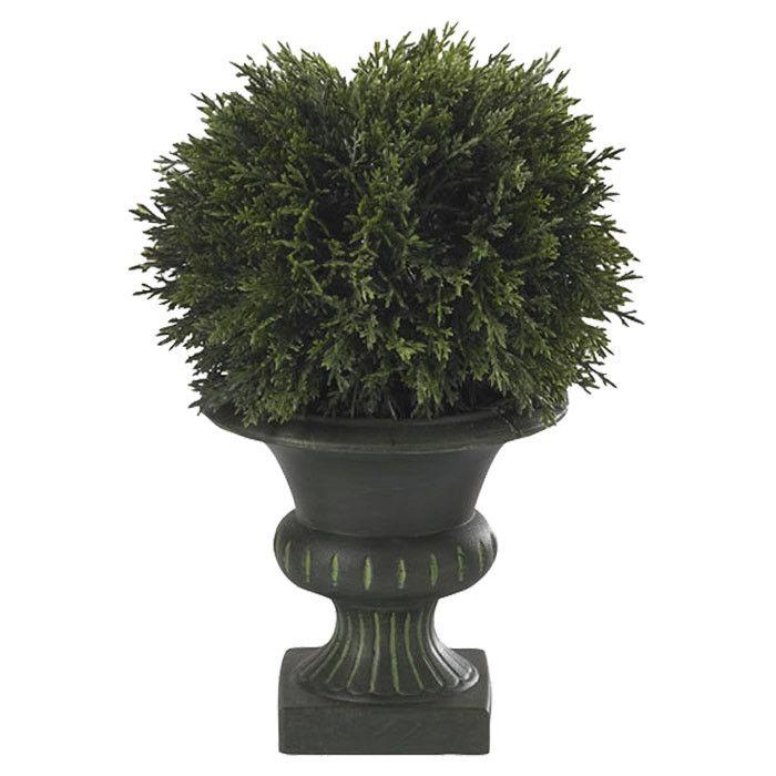 Faux Cedar Ball Topiary