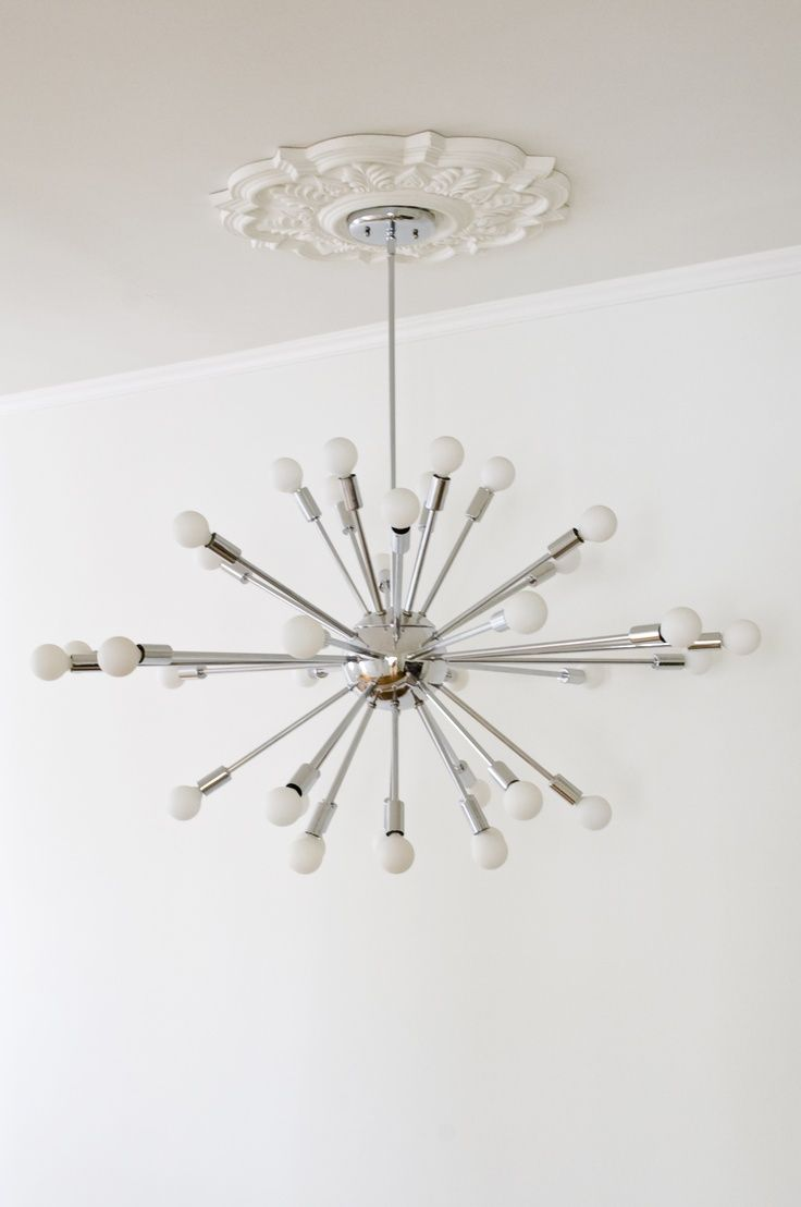 Medallion with modern chandelier google search light up my life medallion too small big time love for the combining of traditional modern sputnik with ceiling medallion arubaitofo Image collections