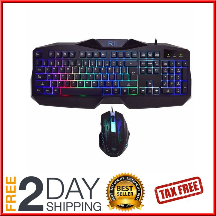 Fortnite Gaming Keyboard Mouse Set Adapter for PC PS4 Xbox One 360 Rainbow LED