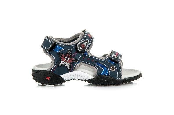 American Club Sandalki Na Rzep American Niebieskie Zapatos