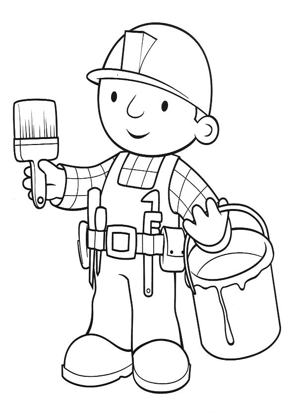 Muitos desenhos de Bob o Construtor para colorir, pintar, imprimir ...