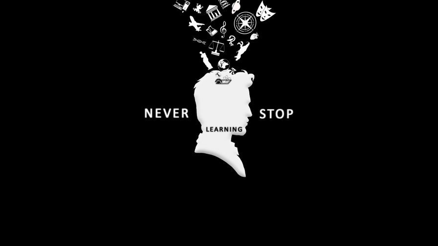 Never Stop Learning Hd Wallpaper Wallpapers Net Hd Wallpaper Dark Background Wallpaper Dark Backgrounds