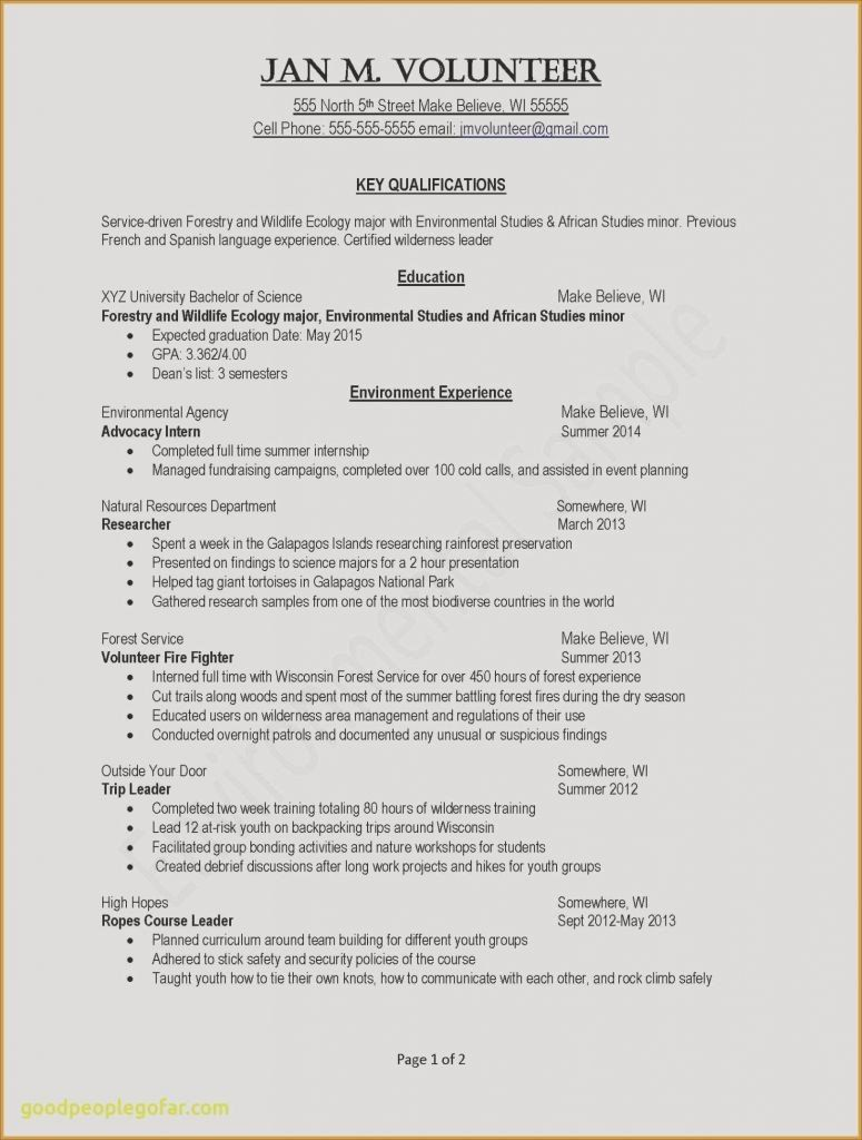 Expected Graduation Date On Resume Lovely Resume Profile Examples