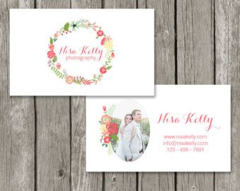 Childcare business cards ideas google search projects to try floral business card template for photographers photography business card design flower wreath calligraphy font flashek Choice Image