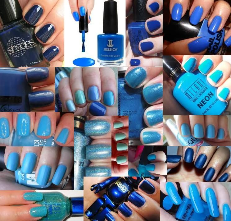 blue nails | blue-nail-color-blue-nail-colour-blue-nail-polish-blue ...