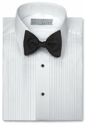 "NEW Classic MENS White Formal 1//4/"" Pleat Tuxedo Shirt WING TIP XL-5"