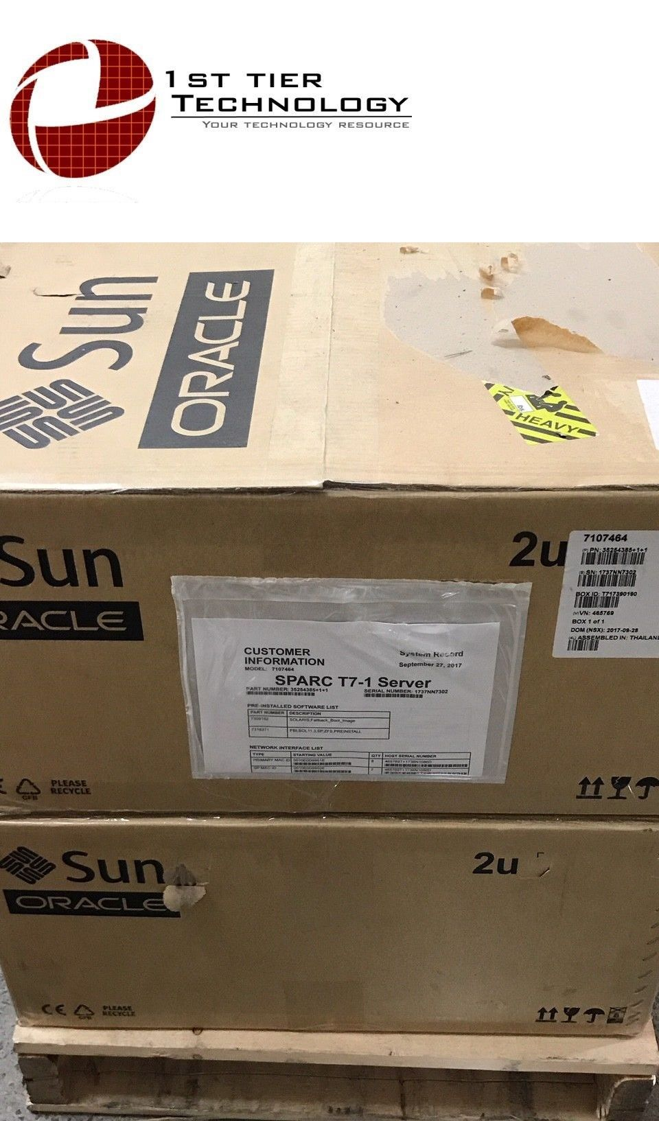 Server Boards 71509: Sun Oracle 7342207- T7-1 Server System