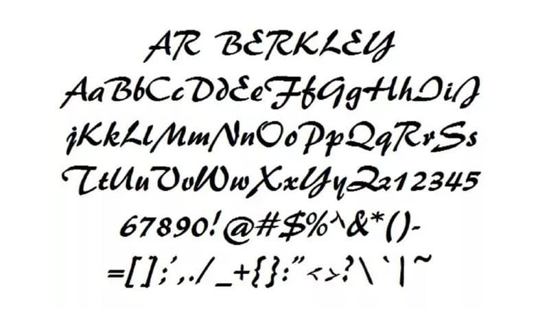 Download AR Berkley Font Download