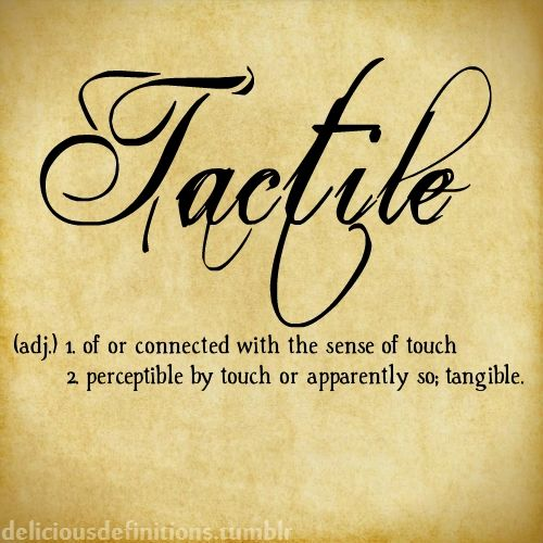 meaning tactile