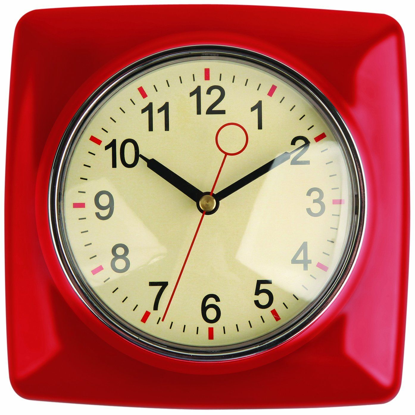 Modern Kitchen Clocks 50 39s Red Clock Google Search Home Decor Kitchen Wall