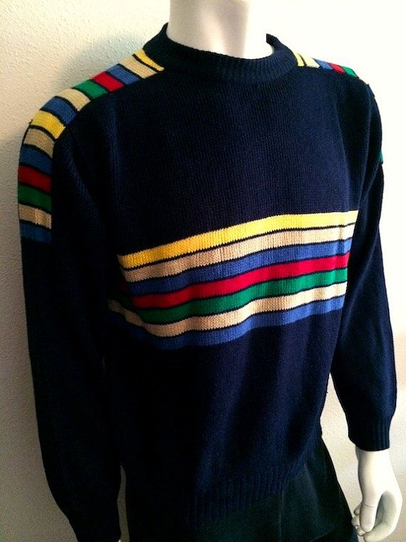 57958f5057bb Vintage Apparel Men s 70 s Ski Sweater